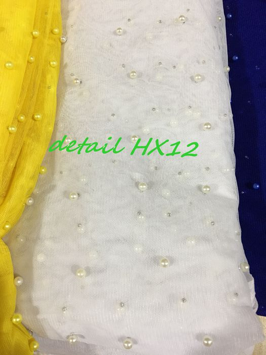 HX1084 High quality african handcut voile lace, french tulle lace with sequins