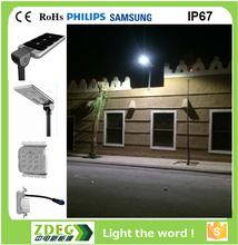 2017 new patented product energy-saving Smart integrated solar led street light with lithium battery 3 years warranty by ZDEG