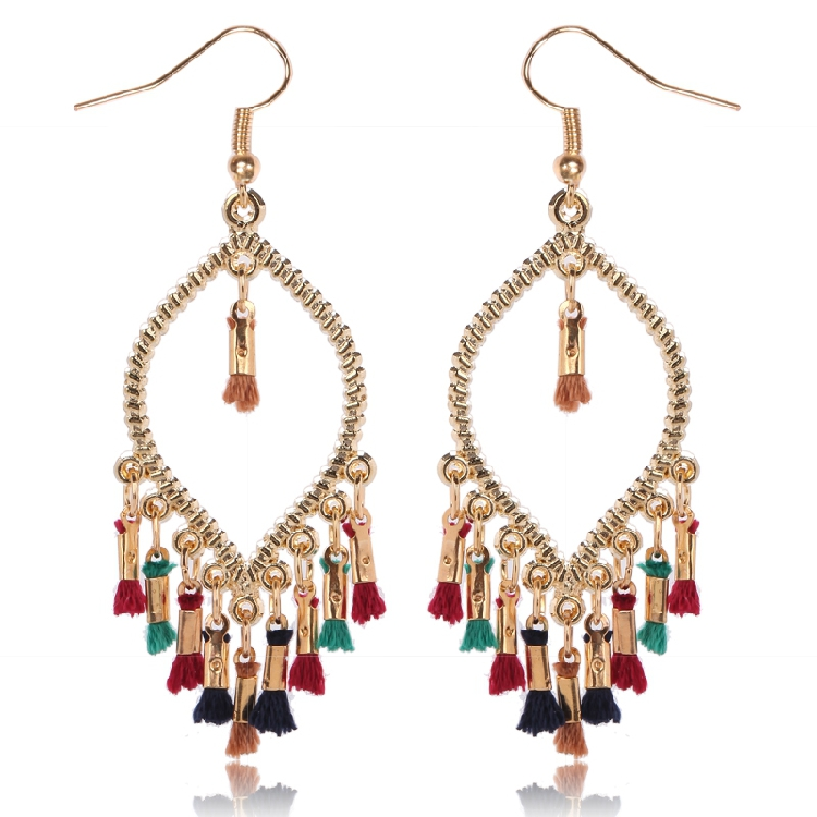 Free shipping Southeast Asia style jewelry summer gold plated neon color big beautiful simple gold <strong>earring</strong> designs for women