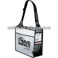 Laminated non-woven box deluxe convention tote bag