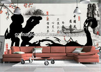 famous Chinese calligraphy mural wallpaper