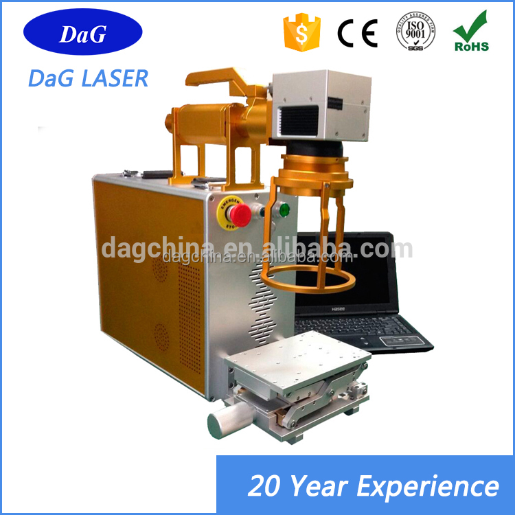 ISO CE certified MAX / IPG30w portable mini fiber laser engraving marking machine