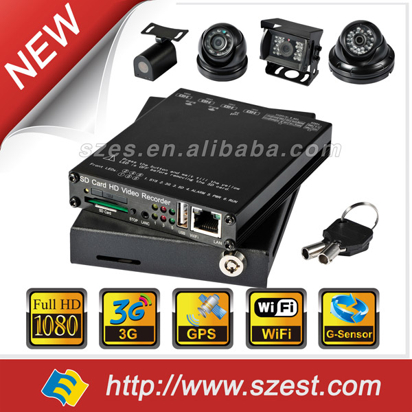 4 Channel H.264 DVR for CCTV System Trucks Bus Police Car