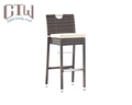 Outdoor bar furniture set rattan bar chair