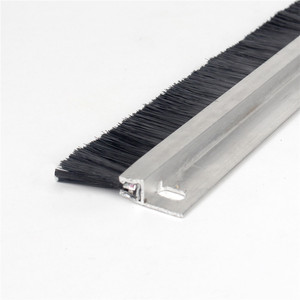 aluminum holder door bottom nylon bristle door brush strip