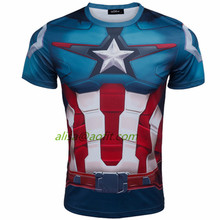 2016 New Product Superhero T-shirt Avengers Marvel Super Heroes Superman Mens Boys T-Shirt