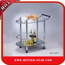 Tempered Glass Serving Cart, Tempered Glass Serving Trolley, Tempered Glass Tea Trolley