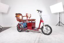 Hot sale electric tricycle/ bike/bicycle DS98 3 wheel bike/tricycle with two seat for adult