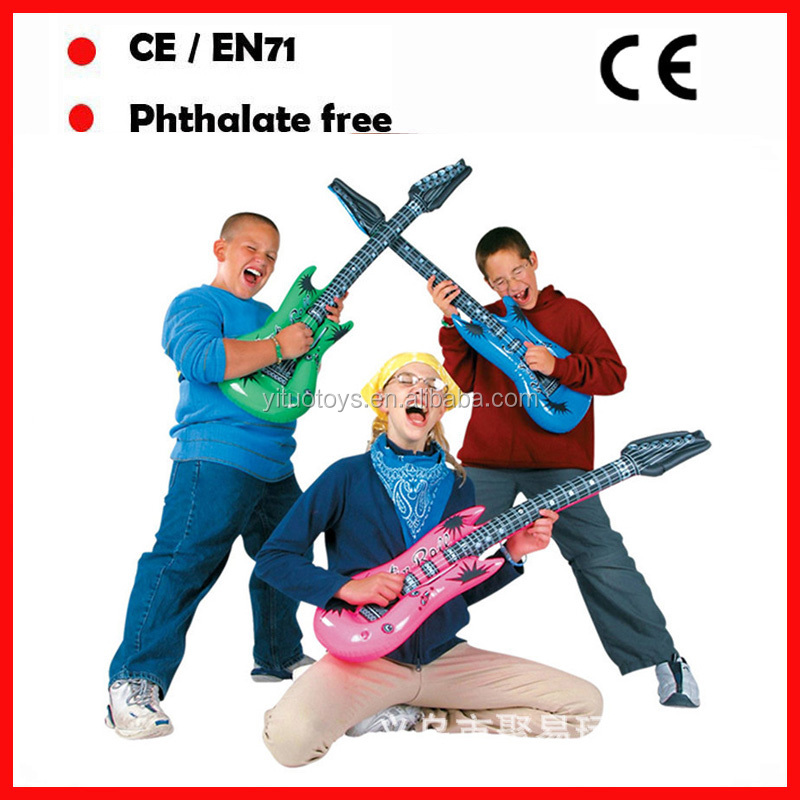 kids promotional toys inflatable guitars PVC air guitars with logo