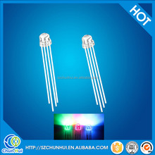 wholesale high Brightness 4pins 5mm rgb led strawhat common anode