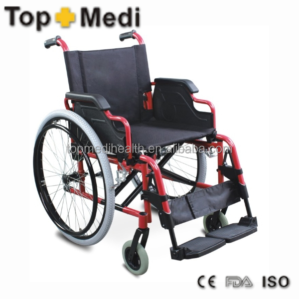 Rehabilitation Therapy Supplies Guangzhou Topmedi Flip Up Desk Armrest Aluminum Manual Chair price of wheelchairs