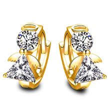 Fashion Cartoon Earrings Cubic Zirconia Angel Wing Earrings