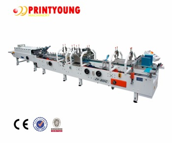 ZH-800G High Speed Automatic Carton Box Folder Gluer machine