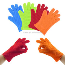 BBQ Grill glove meat shredding/silicone oven grill gloves