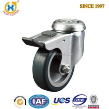 Premium and Durable 3 inch Adjustable Hollow Kingpin Stem Caster Wheel with Plastic Brake