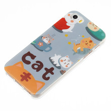 Cute Cat UV Printing Cartoon Case for iPhone SE for iPhone 5s Animal Silicon Cell Phone Case