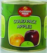 High quality canned solid pack apple manufacturer