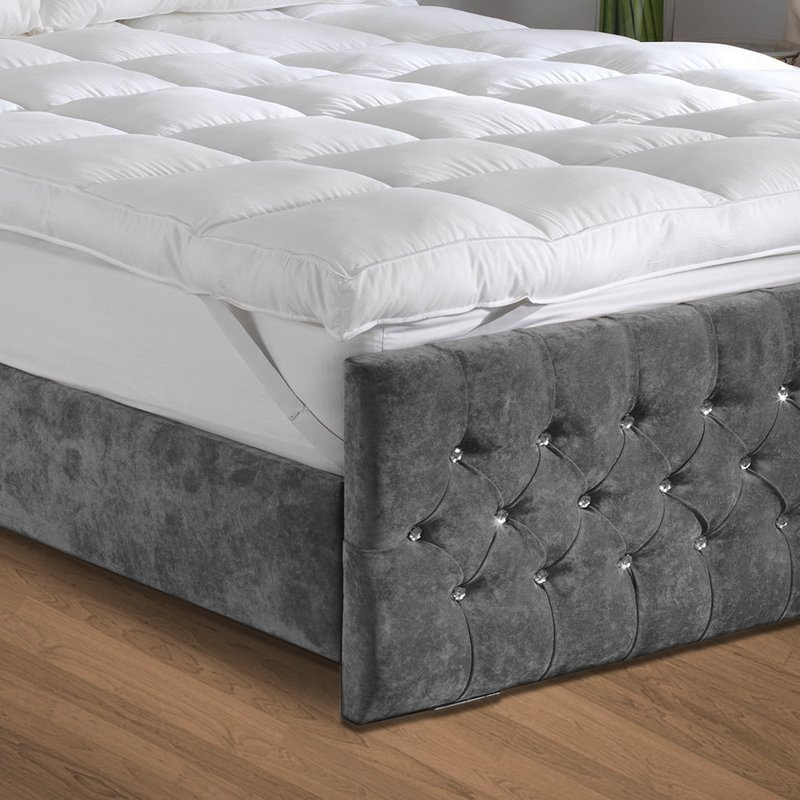 wholesale hot selling fashion hotel bed cheap queen size quilted mattress pad mattress topper - Jozy Mattress   Jozy.net