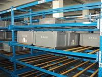 Carton Live Vertical Storage Flow Rack System For Material Storage