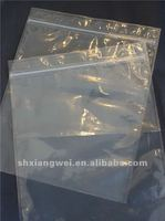 small clear plastic zippered storage bag