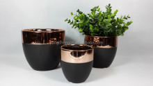 New Style Rose Gold+Matt Black/White Flower pots For Home decoration 5.4''