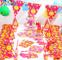 Cheap Happy Birthday Decoration Set With Funny Face Theme