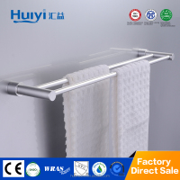 High quality aluminum double bar towel hanging towel bar for bathroom HY-6102