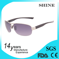 New model top brand metal hotsell rimless sunglasses for men