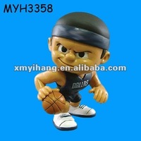 Hot sale resin basketball Figurine sport figurine