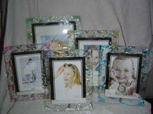 Glue Doted Glass Photo Frame