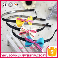 Wholesale Kids Fabric Knot Plastic Headband