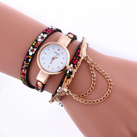 2965 New arrive fabulous new luxury leather printed watch bands quartz watch price