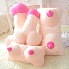 Creative Tricky Plush Cushion Big Boobs Breast Toy Penis Dick Pillow Gift Couple Funny Gift Erotic Pillow Cushion Home Decor
