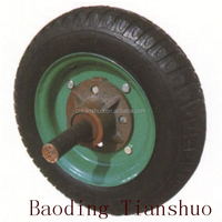 Tianshuo Wholesale high quality400-8 hand trolley pneumatic solid rubber wheel