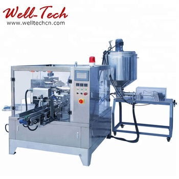 Durable Liquid Food Packing Machine Premade Pouch Liquid Food Filling Packing Machine