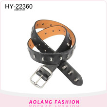 Metal Rivet Studded PU Leather Belts For Men Fashion Belt with Pin Buckles