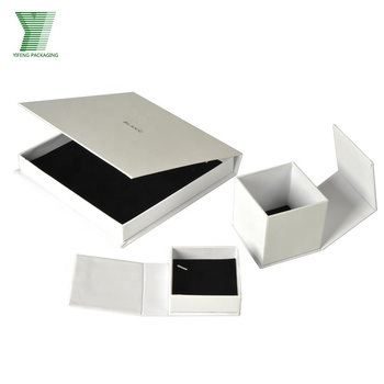 White cardboard customized sweet wedding craft jewelry packaging box