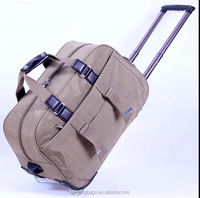 Promotion check-in luggage travel high-volume folding trolley bag