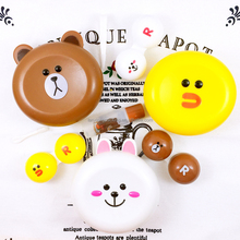 New Design Cute Little Bear Contact Lens Case with Mirror Contact Lenses Box for Man and Women