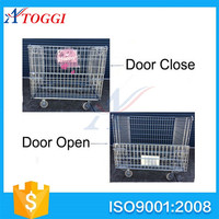 metal foldable rolling security cage