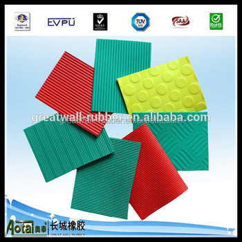 1.8mm to 8mm Thickness PVC Rhomboid GARAGE FLOORING PVC Anti-slip Rubber Matting Floor Rubber Sheet For Workshop