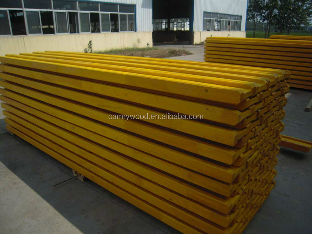 wooden H20 Timber Beam / wooden formwork beam/ pine H20 Beam for construction