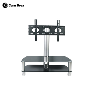 European style tempered glass led tv stand table