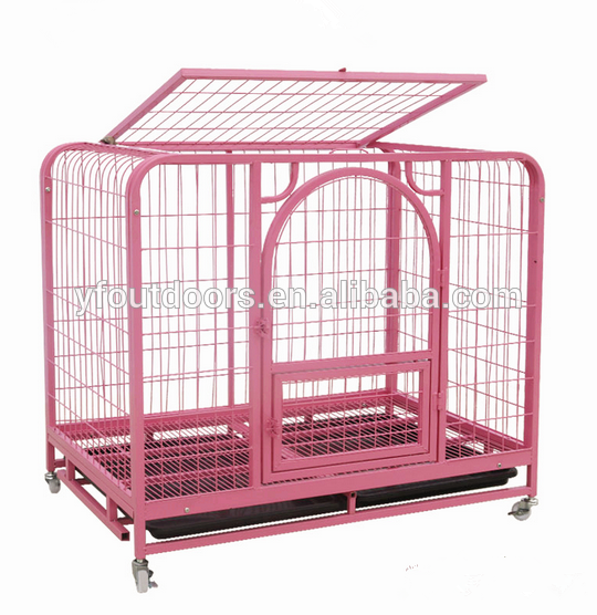 China best decorative chrome large steel dog cage