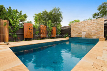 Ottawa metal privacy screens for garden swimming pool for Pool privacy screen