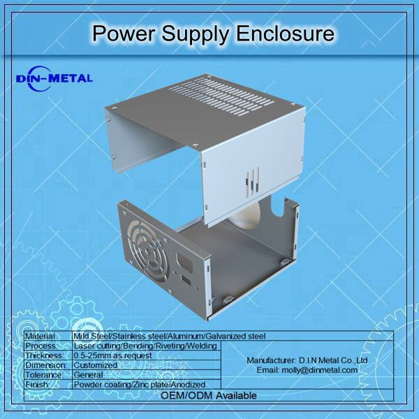 Sheet Metal Power Supply Steel Enclosure Box With Good Quality