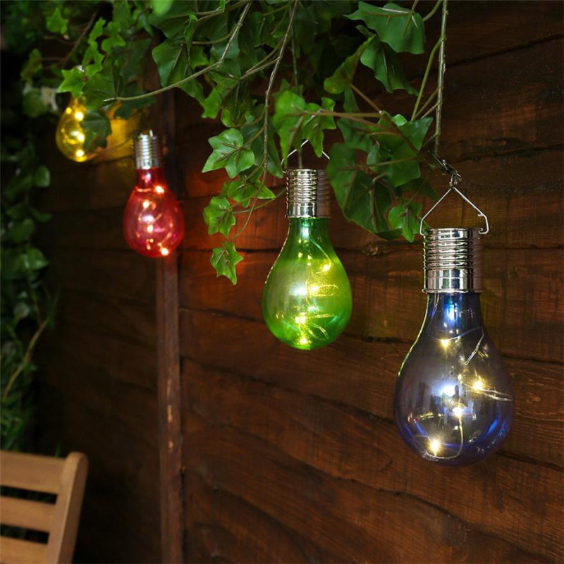 Colorful Party decor led bulb light solar garden lights