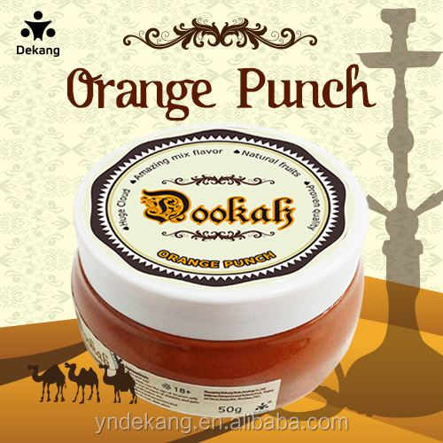 China factory wholesale hookah tobacco for shisha water pipe ( orange punch flavor)