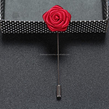 2017 Wholesale Cloth Ornament Long Brooch Rose Wedding Corsage Men's Mini Double Layer Brooch