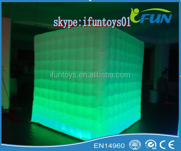 Inflatable photo booth with camera /LED cheap inflatable photo booth /portable inflatable photo booth with LED